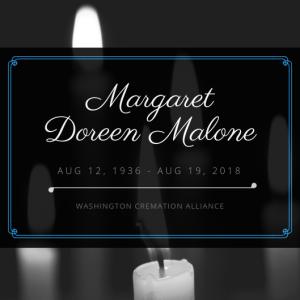 Margaret Doreen Malone Obituary