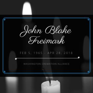 John Blake Freimark Obituary