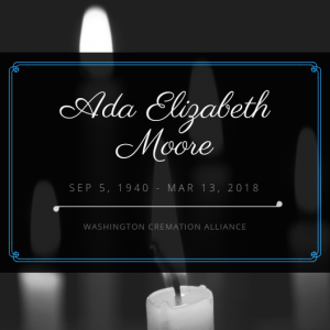 Ada Elizabeth Moore Obituary