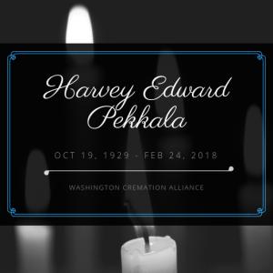 Harvey Edward Pekkala Obituary