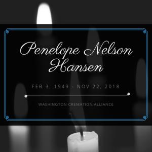 Penelope N. Hansen Obituary